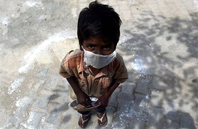 Coronavirus: The children struggling to survive India's lockdown