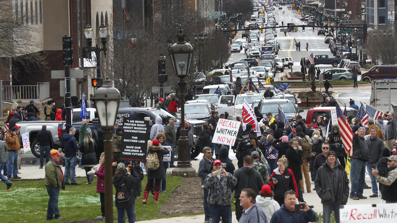 Protests draw thousands over state stay-at-home orders during coronavirus pandemic