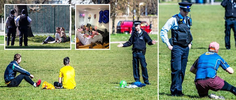 London park forced to close after 3,000 ignore coronavirus lockdown and cops break up 18th birthday party