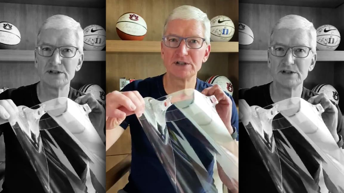 Apple's newest product is a face shield to protect against COVID-19