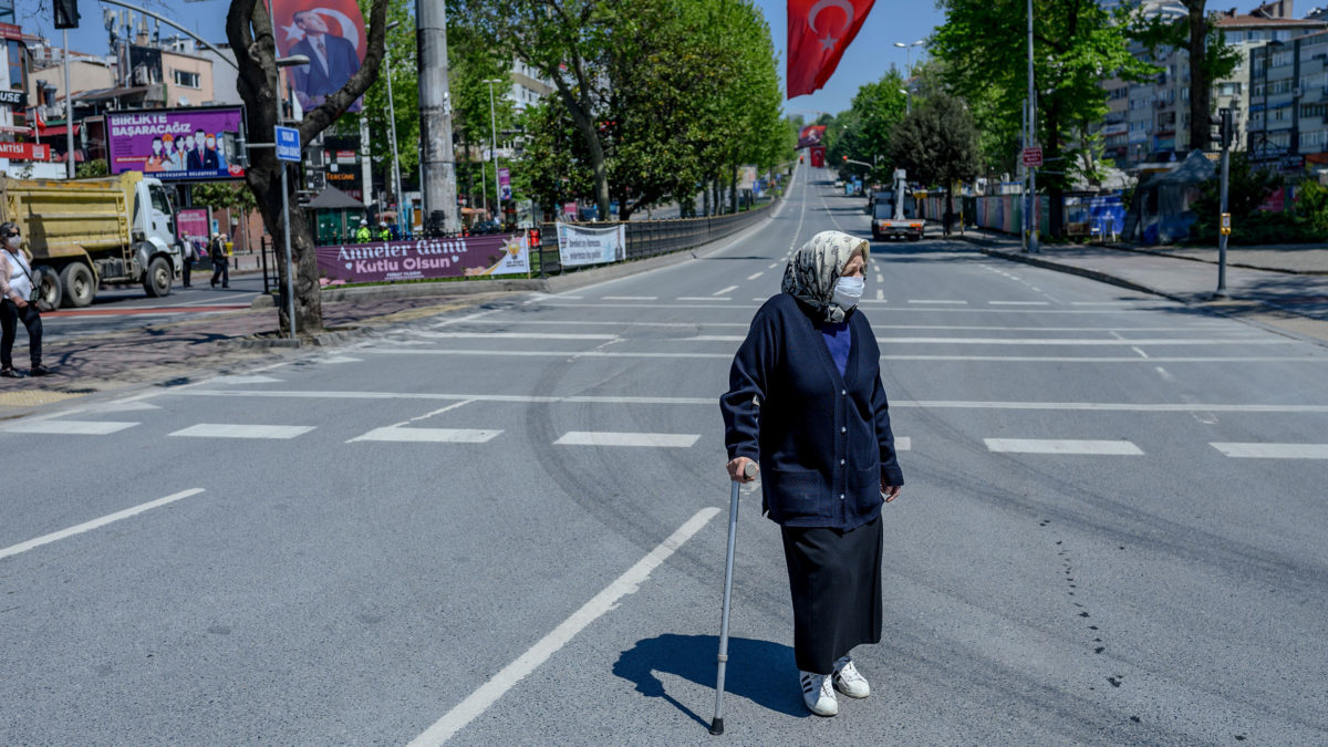 Elderly people in Turkey were finally allowed out of their house for the first time in 49 days