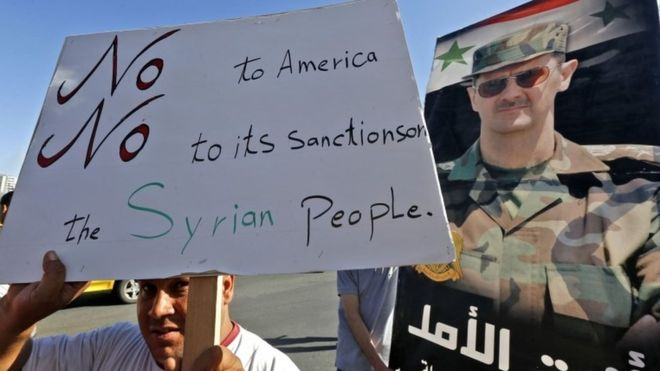 Syria war: New US sanctions target Assad government's foreign backers