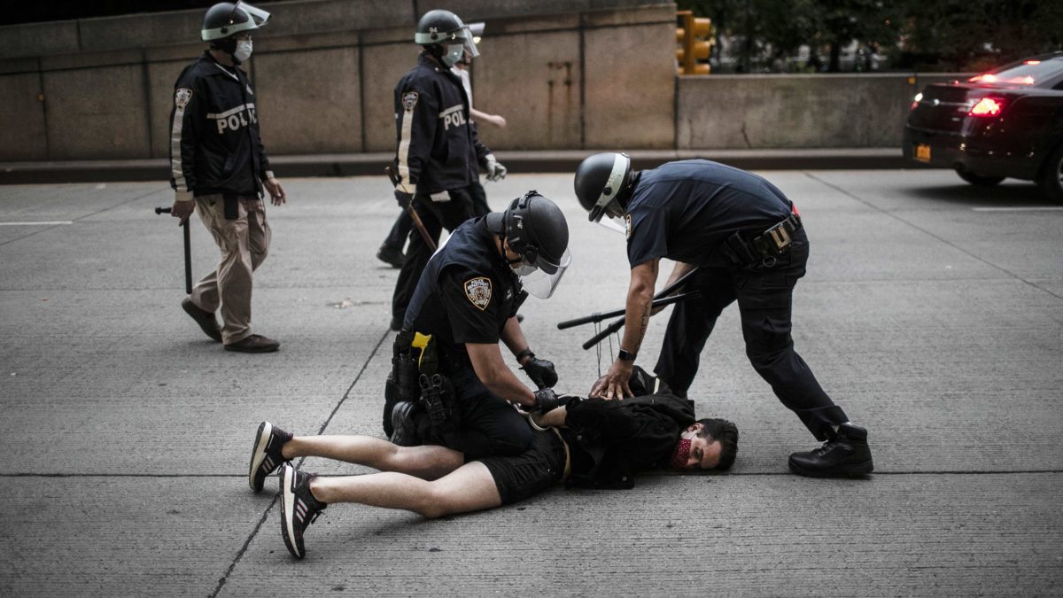 New York police arrested 200 protesters tonight
