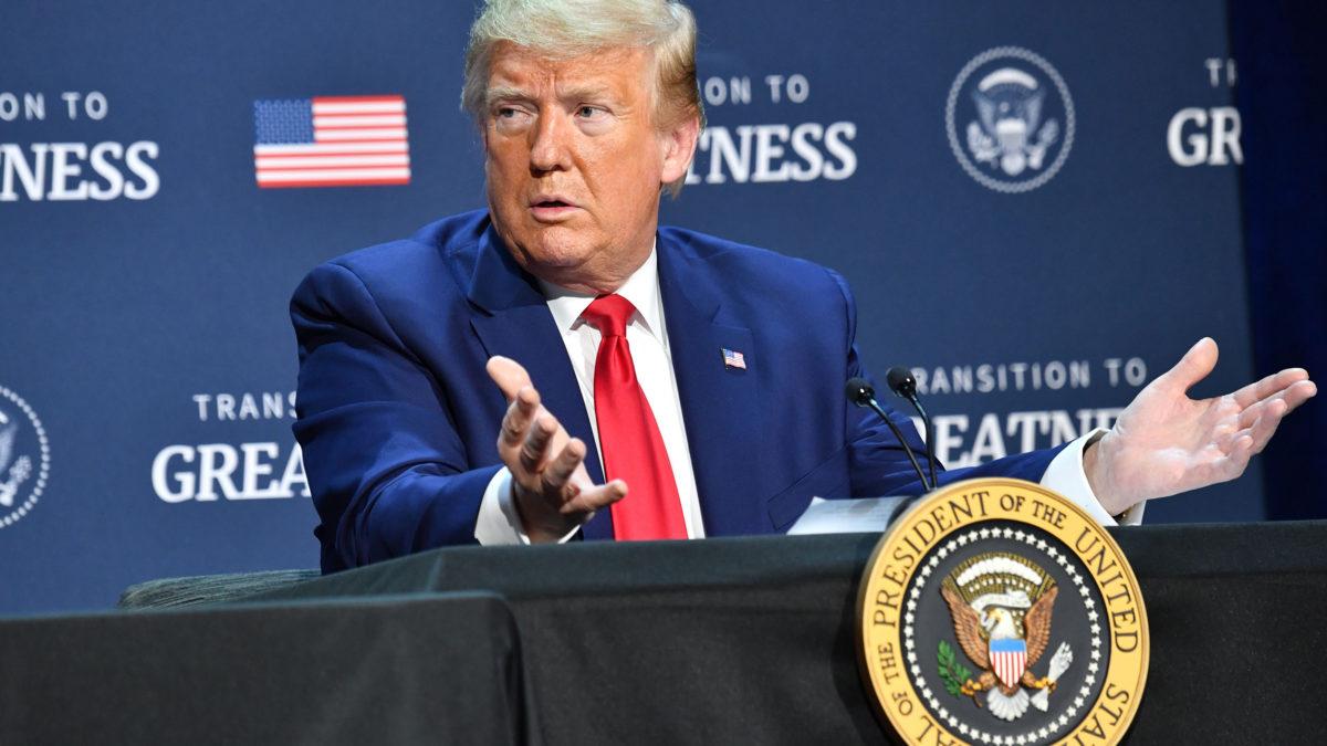 Trump warns against labeling Americans racist