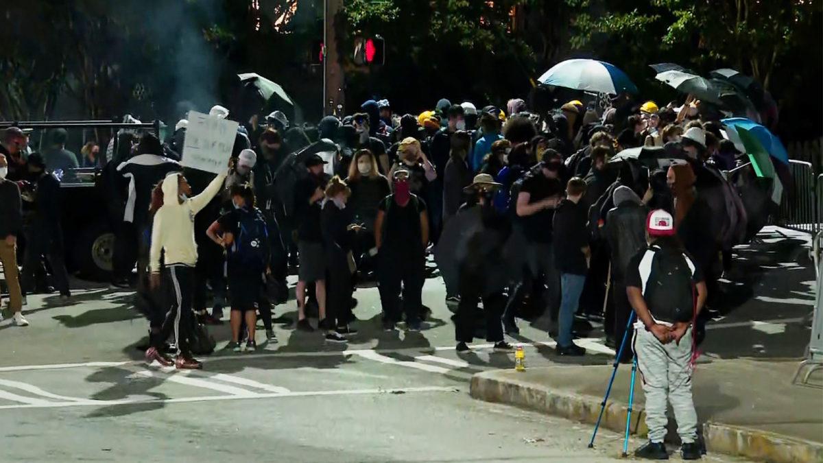 Protesters begin dispersing after standoff in Atlanta's Zone 3 police precinct