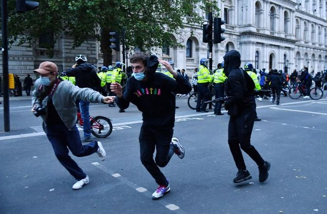 Boris Johnson: Anti-racism protests 'subverted by thuggery'