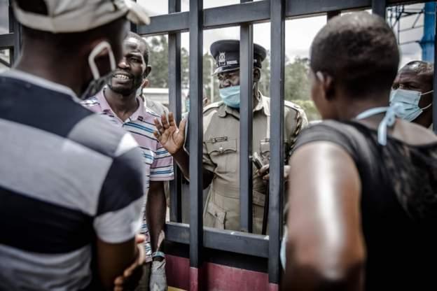 Kenyan activists protest against curfew killing